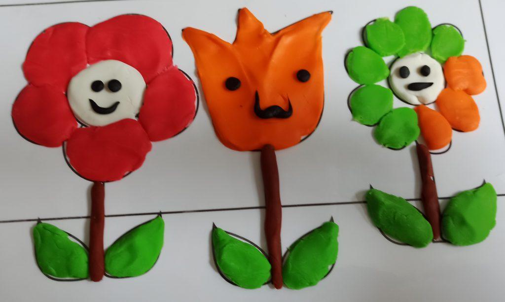 Ginpo playdough sample - flower playdough mat