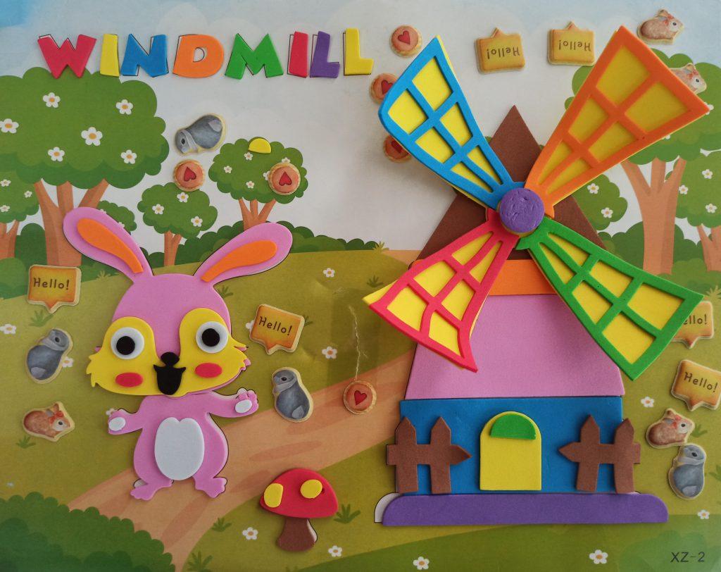 bunny windmill 3D foam art & craft