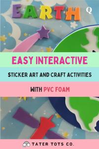 3D rotating earth foam art for kids