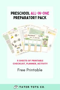 all in one preschool preparatory pack free download