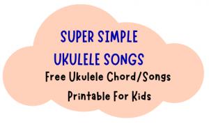super simple ukulele chords for kids